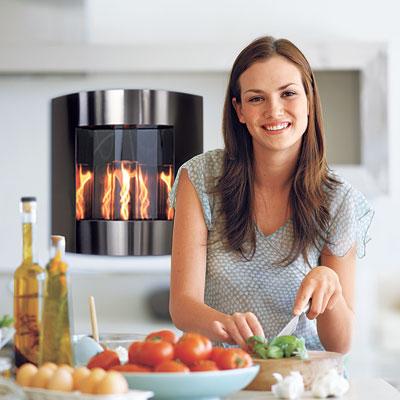 Indoor gel fueled fireplace