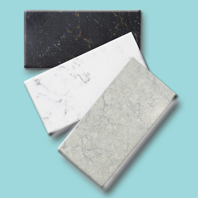 Marble countertop swatches