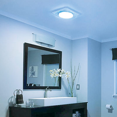 Bathroom light and fan combo unit