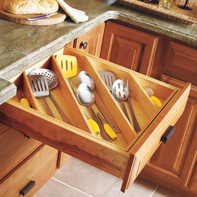 Kitchen cutlery organizer