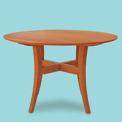 Cherry wood breakfast dining table