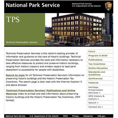 national park service offers forty-seven downloadable pamphlets on a variety of restoration and preservation topics