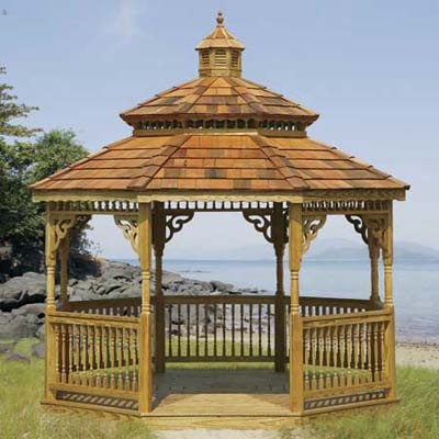 Gazebo Creations ships custom-designed and partially assembled gazebos to order