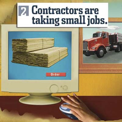 purchasing materials and labor online