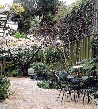 Small ornamental trees accent gardens.