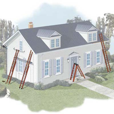 setting up a ladder correctly is an important first step to safety