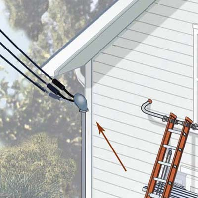 always look overhead for wires before you carry or set up a ladder