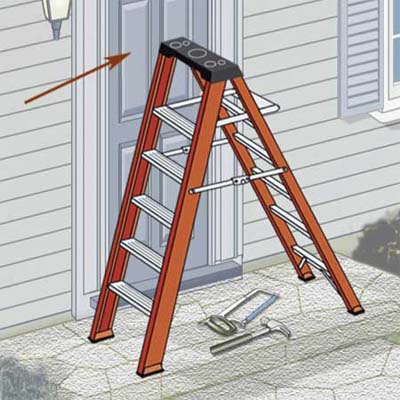 make sure any doors next to a ladder are locked or barricaded