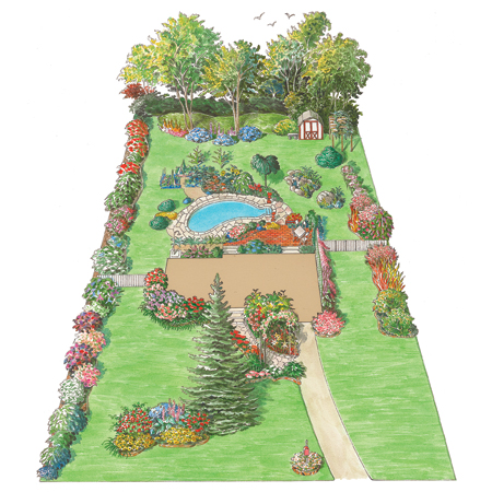 illustration of outdoor space on Rosi's property