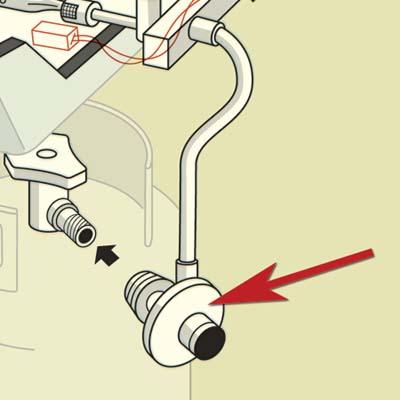 illustration of grill parts highlighting the regulator