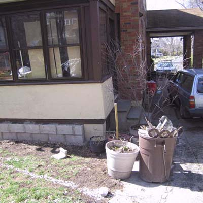 before photo of a back yard in Leonia, NJ