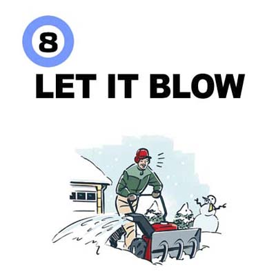 a snowblower is the quickest way to clear large flat areas