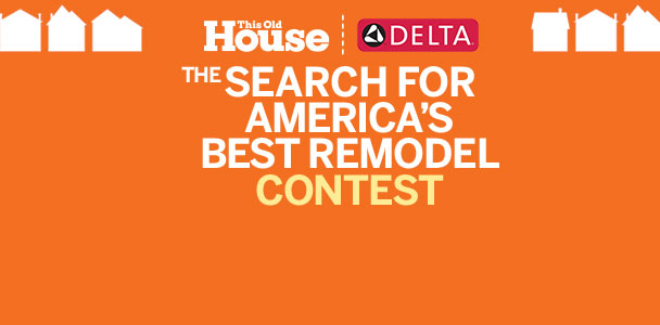 white and yellow bold text announcing the this old house search for america's best remodel contest 2016 on an orange background
