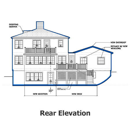 aurburndale project rear elevation