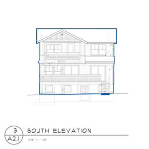 barrington beach house south elevation