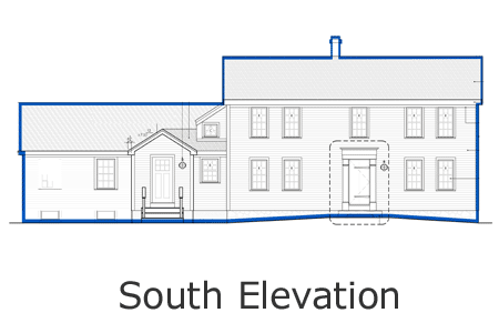 bedford house south elevation
