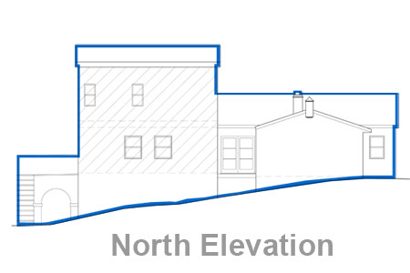 los angeles house north elevation