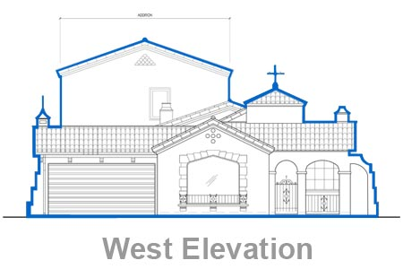 los angeles house west elevation