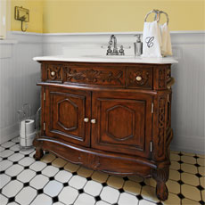 vintage-look dresser vanity