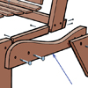 close up on seat supports