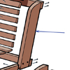 close up on back supports