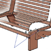 close up on spacers for front and sides of bench