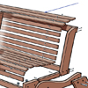 close up on slats for garden bench