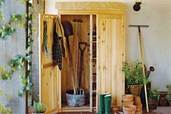 how to build a garden tools shed