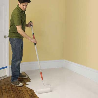 Paint The Base Coat How To Paint A Floor This Old House