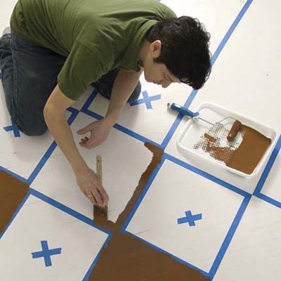 Paint The Pattern How To Paint A Floor This Old House