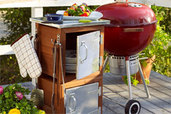 turn planters into a grilling station
