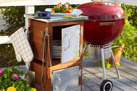 Picture of an option for outdoor grilling storage