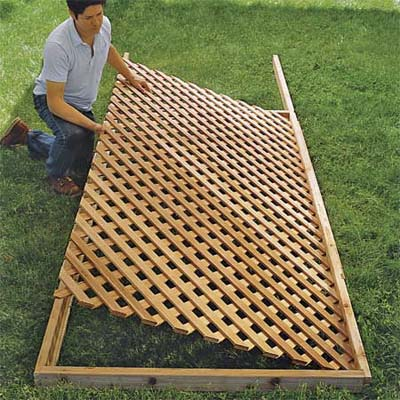 Set The Lattice In Place How To Build A Trellis This