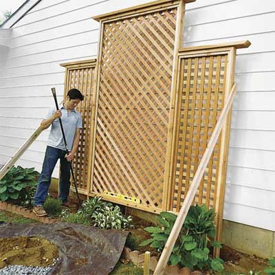 plans to build wood trellis