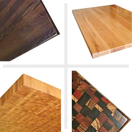 any wood or combination of wood can make a great butcher-block countertop