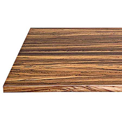 dense zebrawood has a dramatic mix of dark grain with golden highlights