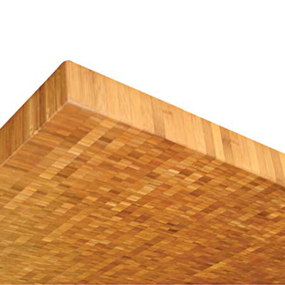 bamboo is a sustatinable wood source that works best when oriented with the end grain showing