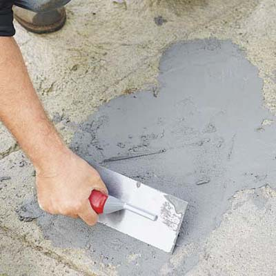 Patch spalled areas how to resurface worn concrete for Cleaning concrete steps