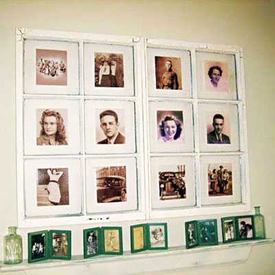 How to make a picture frame from a window sash