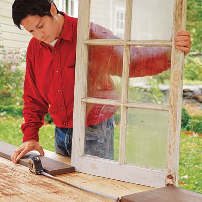 measuring a window for a cold frame