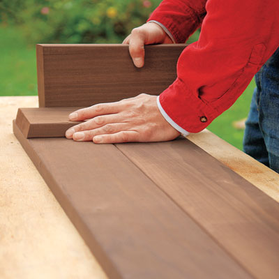 positioning the batten on the edge of the board with a spacer
