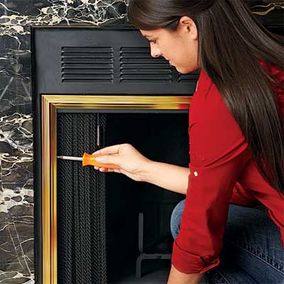 Install the Fireplace Doors