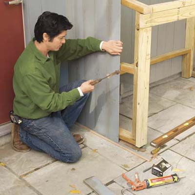 Finish Siding The Frame How To Build A Trash Shed This