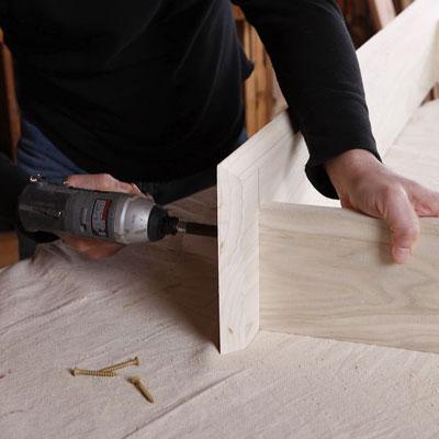 assembling the cabinet's frame