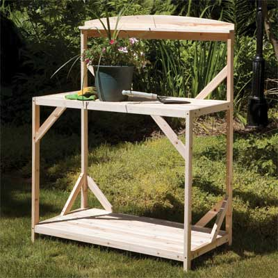 a potting bench made by Jack-Post Corp.
