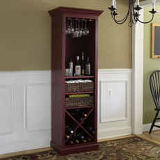 wine rack hutch plans