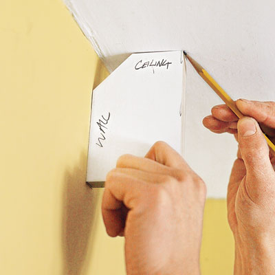 marking the cleat locations for three-piece crown molding