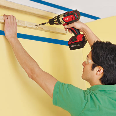 attaching the cleats for three-piece crown molding