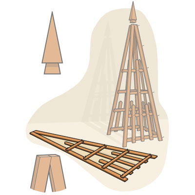 Build the Sides to build a pyramid trellis