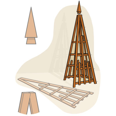 Assemble the Trellis to build a pyramid trellis